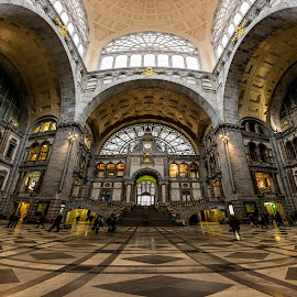 Antwerpen Train Station by Jorge Dumaresq - Buildings & Architecture Public & Historical ( interior, train station, archs, atwerpen, panoramic, netherlands )