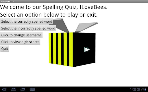 spelling-bee-lite for android screenshot