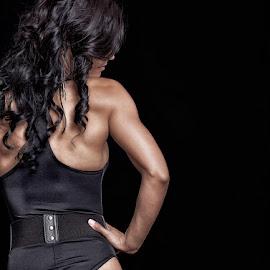 Female bodybuilder 4 by Gerhard Bouwer - Sports & Fitness Fitness ( bikini model, fitness model, south africa, bodybuilding, western cape )
