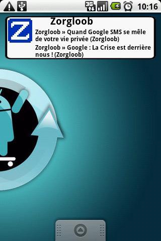 Widget du site Zorgloob