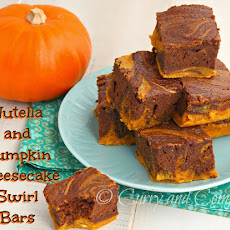 Nutella and Pumpkin Cheese Cake Swirl Bars