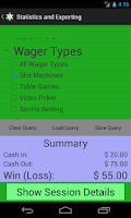 Screenshot of Wager Log
