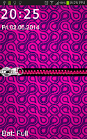 Screenshot of Pink Zipper Pouch Go Locker