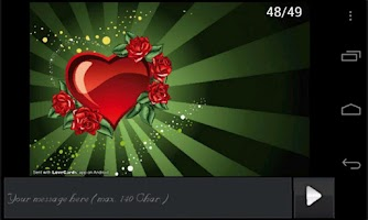 Screenshot of Love Cards Pro Version