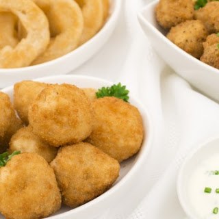 Deep Fried Mushrooms with Horseradish Dipping Sauce