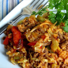 Bloody Mary Style Cabbage Jambalaya