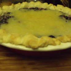 Blueberry Cobbler Pie