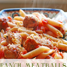 Ranch Meatballs and Pasta – 15 Minute Meal