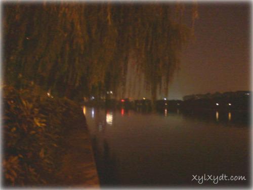 城河夜色,杭州贴沙河夜景