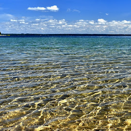 Pure Colorful Lake Michigan! by Tim Hall - Landscapes Travel ( beaches, clear water, colorful water, lake michigan, beautiful water, fresh water, blue water, grand traverse bay, lower peninsula, beach, travel, great lakes )