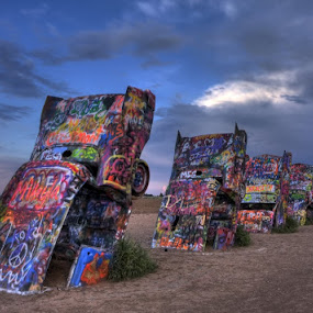 Cadillac Ranch by Allen Crenshaw - Artistic Objects Still Life ( allen crenshaw, amarillo, art project, stil life, cadillac ranch, landscape, stanley marsh iii, photography, , colorful, mood factory, vibrant, happiness, January, moods, emotions, inspiration )