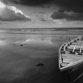 the boat and the sea by Dibesh Thakuri - Transportation Boats