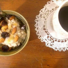 Porridge With Dried Cherries Rosewater, Vanilla And Cardamom
