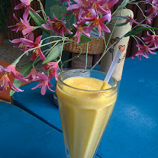 Diabetic Orange Mango Smoothie