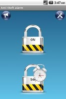 Screenshot of Anti-theft alarm