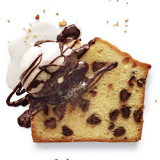 Chocolate Chip Pound Cake with Chocolate-Coffee Liqueur Sauce