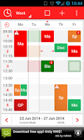 Screenshot of TimeTable++ Schedule