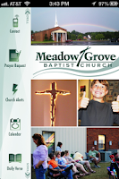 Screenshot of Meadow Grove Baptist Church