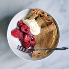 Rye Flour Crêpe Bowls with Lemon Crème Fraîche (For Two)