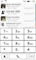 Screenshot of exDialer White WP7 Theme
