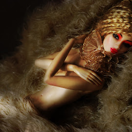 Barn Tryst by Marc Mendoza - Artistic Objects Toys ( nude, doll, barn, toy, art )