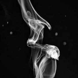 smoke... by Tracey Doak - Novices Only Macro ( smokey, incense, black & white, dark, smoke,  )