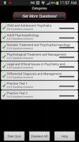 Screenshot of Psychiatry LANGE Q&A