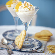 Citrus Burst Syllabub With Almond Heart Cookies