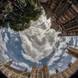 by Radu Eftimie - Buildings & Architecture Public & Historical ( fisheye, london, circuar view, westmonster )