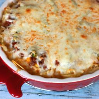 Hearty Beef and Spaghetti Pie with Mozzarella Cheese