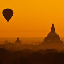 Good morning Bagan, Myanmar by Chatchai Lakamankong - Buildings & Architecture Public & Historical