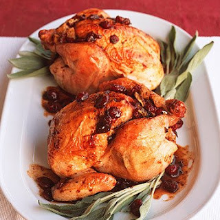 Cranberry-Stuffed Cornish Game Hens