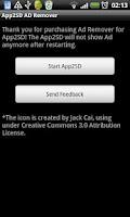 Screenshot of Ad Remove Plugin for App2SD