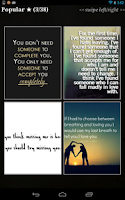 Screenshot of Love Quotes""