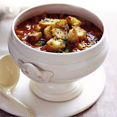 Winter Minestrone With Pesto Croûtes