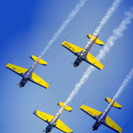 Arrows in the sky by Mihaela Iordan - Sports & Fitness Other Sports ( sky, airplanes, fly, show, jets, aviatic,  )
