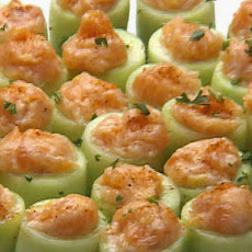 Cucumber Canoes of Salmon Mousse