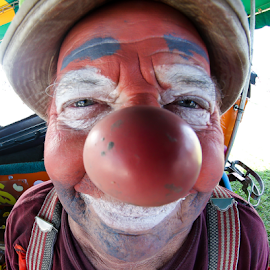 Shreiner Clown by Nancy Merolle - People Musicians & Entertainers