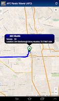 Screenshot of AFC Route Viewer App
