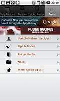 Screenshot of Fudge Recipes!