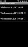 Screenshot of Wireless Android Password