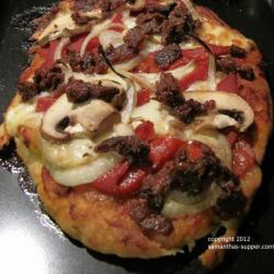 Lamb Naan Bread Pizza