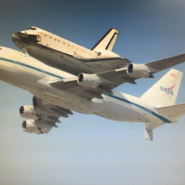 Shuttle endeavor pass above the sky  by Yoni Godefa - Travel Locations Air Travel