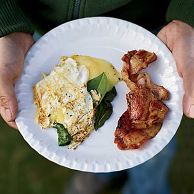Three-Egg Omelets with Whisky Bacon