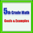 5th Grade Math, Goals&Examples icon
