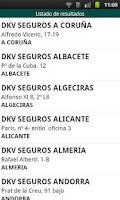 Screenshot of Guía de Médicos. DKV Seguros.