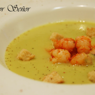 Avocado and Shrimp Vichyssoise