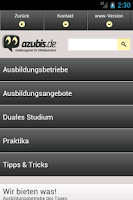 Screenshot of azubis.de
