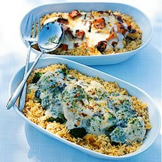 Cauliflower and Broccoli Gratin with Blue Cheese