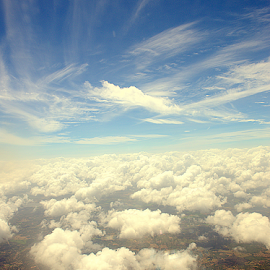 up above the world so high... by D K - Landscapes Cloud Formations ( clouds, view from above, hights, view, bird eye view, rain )